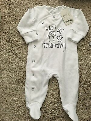 Brand New Next Baby Unisex Sleepsuit Up To 1 Month