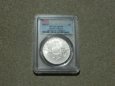 2011-S Medal Of Honor Commemorative Silver $1 Pcgs Ms70