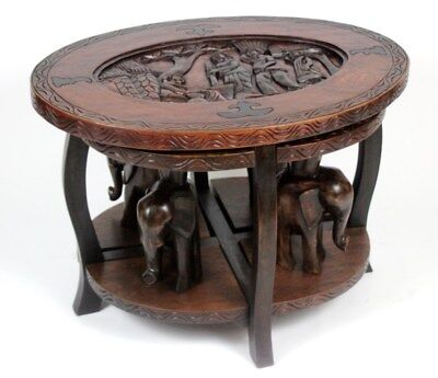 Vintage Carved Nesting Coffee Tables - FREE Shipping [PL4387]