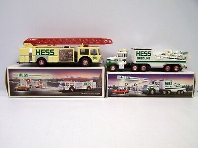 Combo Lot - 1989 Hess Fire Truck & 1988 Hess Toy Truck & Racer *FREE S&H**