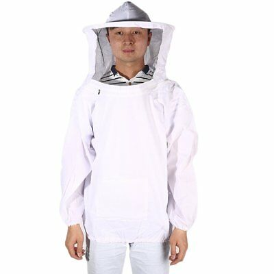 New Large Beekeeping Bee Keeping Jacket Clothes Pull Over Smock with Veil NN