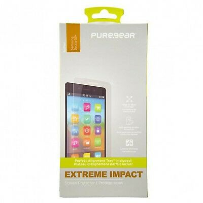 PureGear Extreme Impact Easy Install Screen Protector Samsung Galaxy S8/S8+ Plus