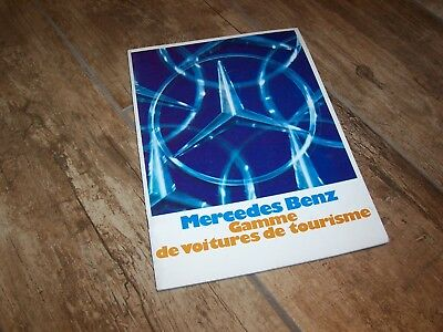 Catalogue /  Brochure MERCEDES BENZ Gamme / Full Line 1971  //