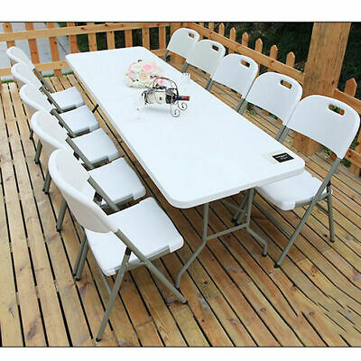 6FT Folding table outdoor Camping Banquet Trestle Party Picnic Heavy Duty
