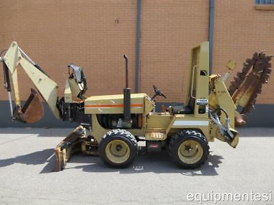 """KUBOTA DIESEL BURKEEN 48"""" RIDE-ON TRENCHER BACKHOE 72"""" 6-WAY BLADE ditch witch"""
