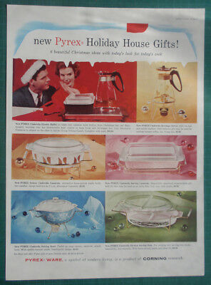 1959 Pyrex ware ad Holiday House Gifts Christmas Ideas