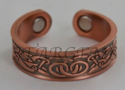 Magnetic Copper Ring Celtic Healing Arthritis Aid Pain Relief Mens Womens Gift