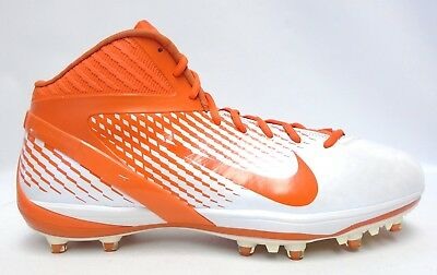 hot sale online 9fcad 9284a Nike Air Zoom Alpha Talon Elite 3 4 Orange and White Football Cleats - Size