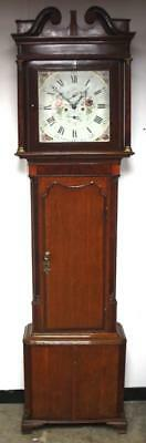 English Antique Wigan Mahogany Square Dial 8Day Grandfather Longcase Clock C1790