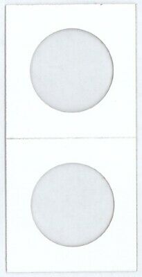 2X2 HECO Mylar Cardboard Coin Flips For US Half Dollar Size Lot of 100 Holders