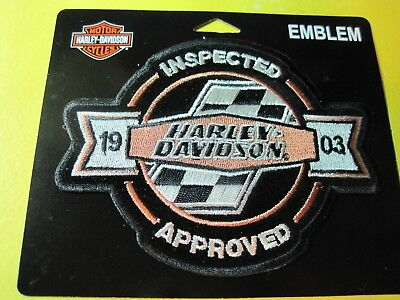 Harley Davidson Checker Flag Embroidered Racing Retro Patch 14 99