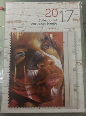 2017 Annual Australian Stamp Album-With Slip Cover-No Stamps-Free Postage