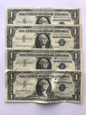 1$ Silver Certificate ..Lot of 4. Series 1957.!! NR.!!
