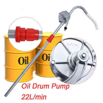 35L/min Rotary Hand Oil Pump Self Dispense Fuel Petrol Barrel Drum Pumping Crank