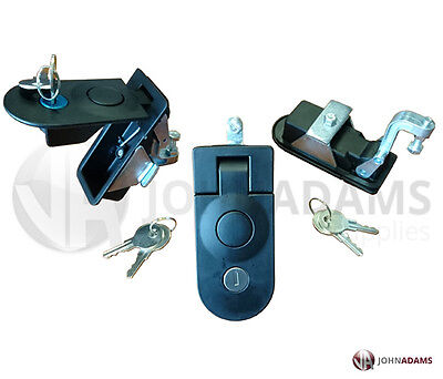 2 X Compression Latch Lock LARGE Horsebox Locker Doors Tack Box Push Button C5