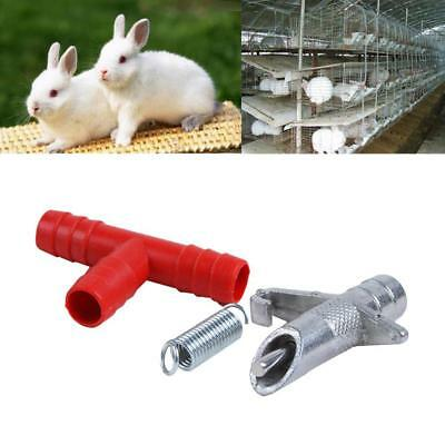 10pcs Rabbit Nipple Water Drinker Waterer Poultry Feeder Bunny Rodent Mouse Hot