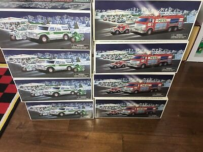 Hess Truck 2005 Emergency 2004 40Th Anniversary Lot Of 8Pc