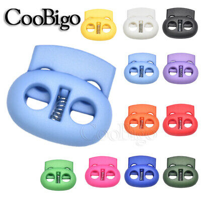 5mm Hole Colorful Cord Lock End Bean Toggle Clip Stopper Sport Apparel Shoelace