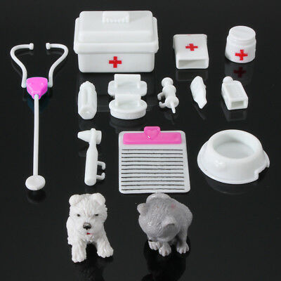 14Pcs Mini Medical Equipment Toys For Barbie Fashion Doll Accessories White US