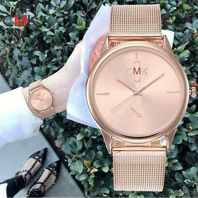 Fashion Women's Casual Watches Quartz Stainless Steel Band Analog Wrist Watch