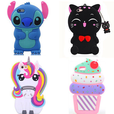 3D New Hot Cute Cartoon Soft Silicone Phone Case Cover Back For Various Phones