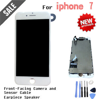 """Assembly Replacement For iPhone 7 4.7"""" LCD Touch Screen Digitizer Camera White"""