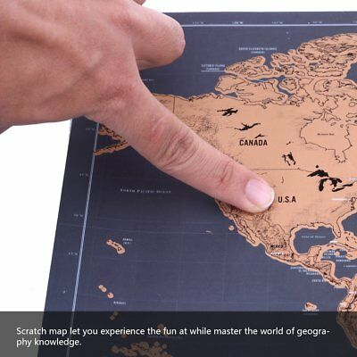 1pcs Deluxe Large Scratch Off World Map Personalized Travel Poster Travel free