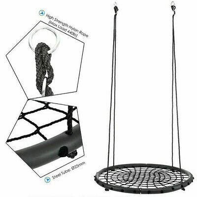 """Giant 60cm 24"""" Disc Swing Seat Flying Spider Tree Swing Nest Playground Toy Set"""