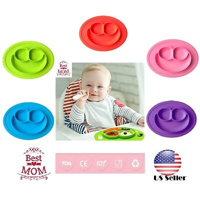 USA Happy Mat suction silicone plate stable bowl Toddler infant kids baby Dishes