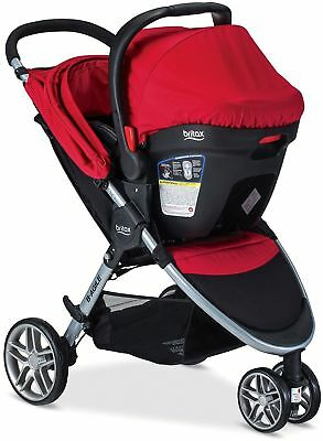 Britax 2017 B Agile and B Safe 35 Travel System, Red (FREE SHIPPING)