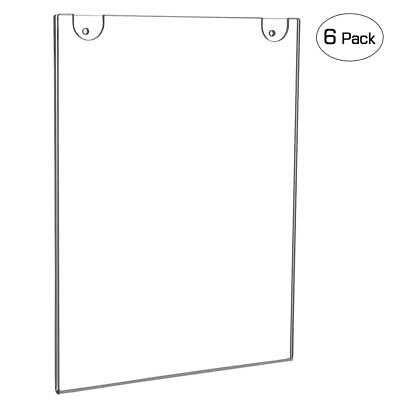 NIUBEE Acrylic Wall Mount Sign Holder 8.5 x 11 Inch- Clear Ad Frames for...
