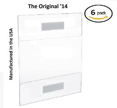 T'z Tagz The Original 6 Pack of Wall Mount 8.5 X 11 or Clear Acrylic Sign...