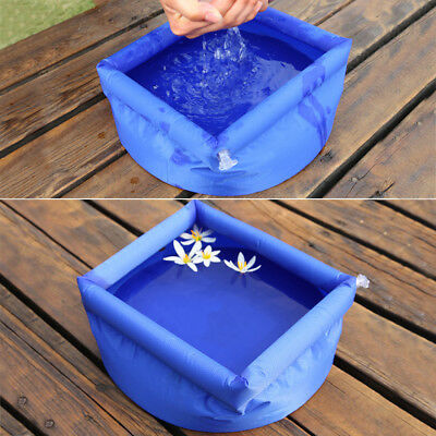 8L Foldable Inflatable Wash Basin Footbath Sink Water Bag Outdoor Travel Camping