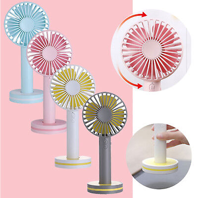 Handheld Mini Portable USB Rechargeable 3-Speed Summer Air Cooler Cooling Fan