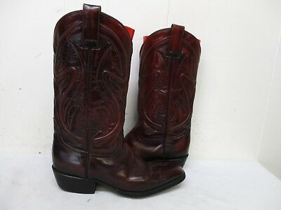 93c04f9769f SHEPLERS BLACK CHERRY Leather Cowboy Boots Mens Size 8 E Style 1205