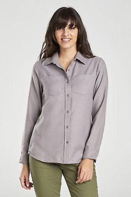 United By Blue W's Pinedale Wool Shirt, Grey, L