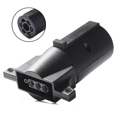MICTUNING 7 Way Trailer Light Adapter Plug Connector 7 Way Round To 4 Pin Flat