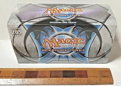 Magic The Gathering Trading Card Game Deck Builder's Toolkit Boxed Set Nm Unused