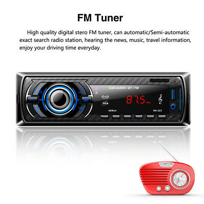 AUTORADIO FM STEREO AUTO LETTORE MP3 USB SD TF INGRESSO AUX WMA RADIO Bluetooth