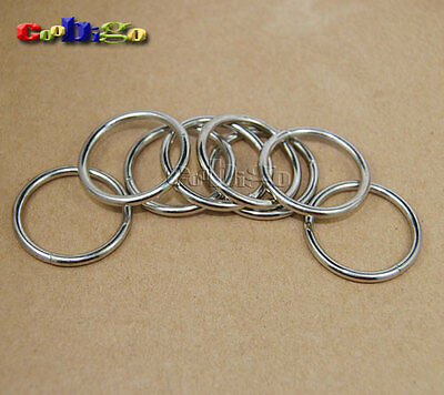 "6pcs 1"" Nickel Non Welded Metal O Rings Shape for Bag Key Chains Key Rings"