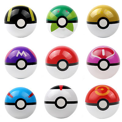 9PCS Pokemon Pokeball Pop-up Master Great Ultra GS poke BALL Toy Christmas Gift