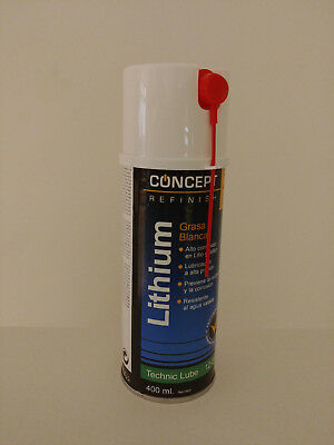 SPRAY GRASA BLANCA DE LITIO DE 400ml LITHIUM CONCEPT CAR REFINISH