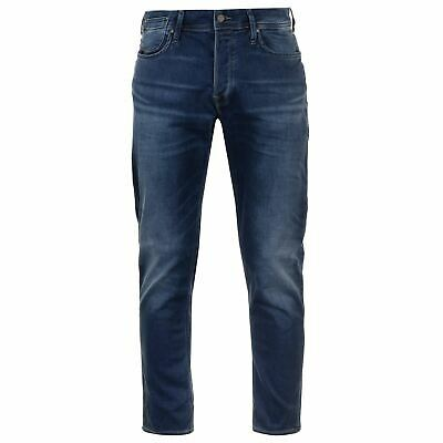 Jack and Jones Herren Jeans Intelligence Tim Leon Indigo Strick Slim Fit 1e34149952