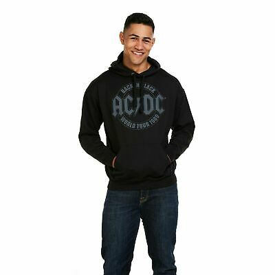 AC/DC - Back In Black - World Tour 1980 - Mens Hoodie Hooded Pullover - S-XXL