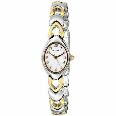 Women's Wrist Watches 98V02 White Patterned Bracelet