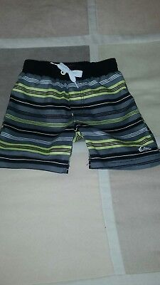 QUICKSILVER Baby Boy Gray Swim Suit Size 12 month