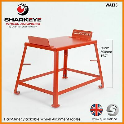 QuickTrak 50cm Stackable Wheel Alignment Tracking Tables. Handmade in the UK.