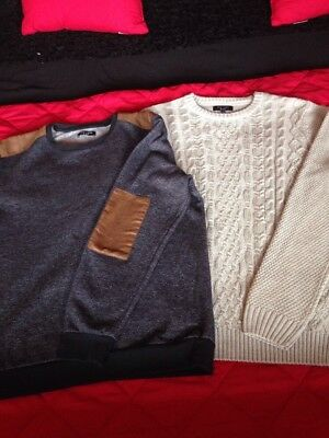 2x Mens Large New Look Jumpers