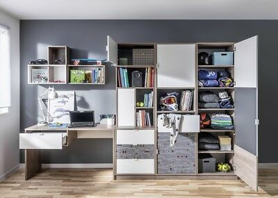 jugendzimmer kinderzimmer komplett tecto schreibtisch regal kleiderschrank eur 549 00. Black Bedroom Furniture Sets. Home Design Ideas