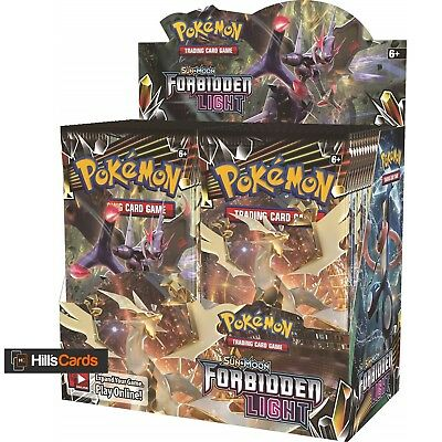 Pokemon Sun & Moon Forbidden Light Sealed Booster Box of 36 Packs SM-6 TCG Cards
